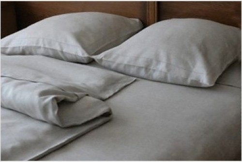 Постельное белье MOKA textile Лен Серый l002D