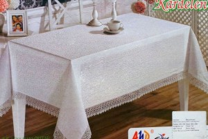 Скатерть AYD Kardelen K.D.K. Lux white 1550340
