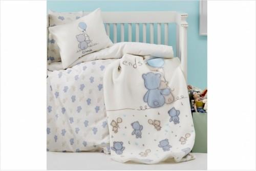 Детский плед Karaca Home Blue Bears 8680214116449