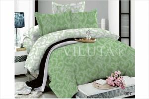 Постельное белье Вилюта Дамаск зеленый 007