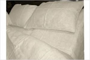 Постельное белье MOKA textile Лен Белый l001