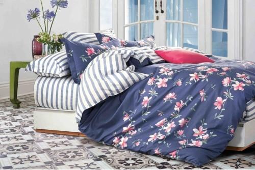 Постельное белье Bella Villa Цветы на синем B-0105 Fm