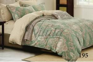 Постельное белье Вилюта Твил Орнамент на зеленом 195