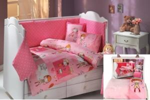 Детское постельное белье HOBBY City Girl pink + плед 21850