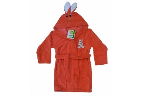 Детский халат Nusa Зайчик коралловый m010036